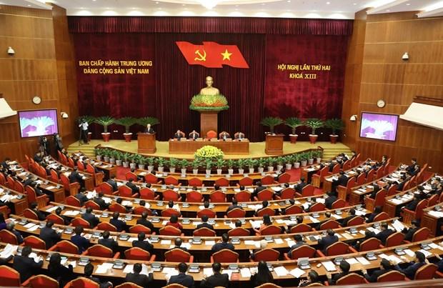 Inauguran segundo pleno del Comite Central del Partido Comunista de Vietnam del XIII mandato hinh anh 1