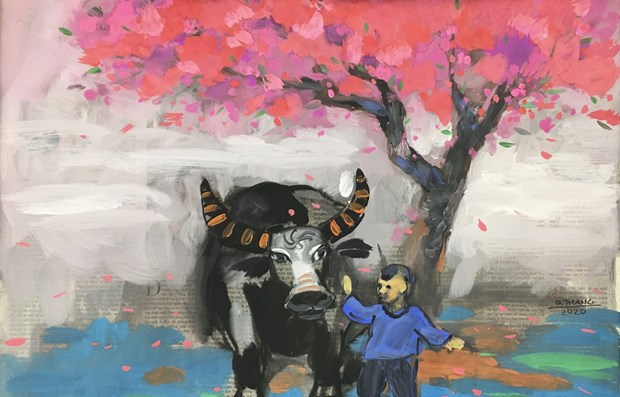 Bufalos en la vida cultural vietnamita hinh anh 1
