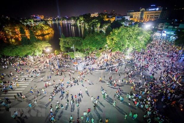 Reanudaran actividades en espacios peatonales de Hanoi hinh anh 1