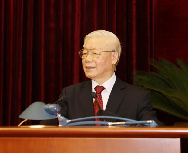 Concluye segundo pleno del Comite Central del Partido Comunista de Vietnam hinh anh 1