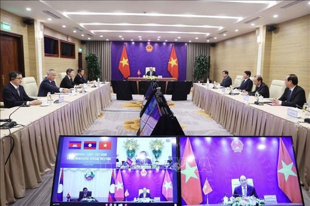 Vietnam, Laos y Camboya fortalecen la amistad y cooperacion hinh anh 1