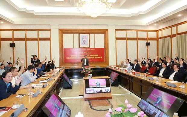Aprueban postulacion de candidatura de maximo dirigente de Vietnam a elecciones parlamentarias hinh anh 1