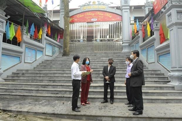 Inspeccionan preparativos para reanudar servicios turisticos en Pagoda Huong de Vietnam hinh anh 1