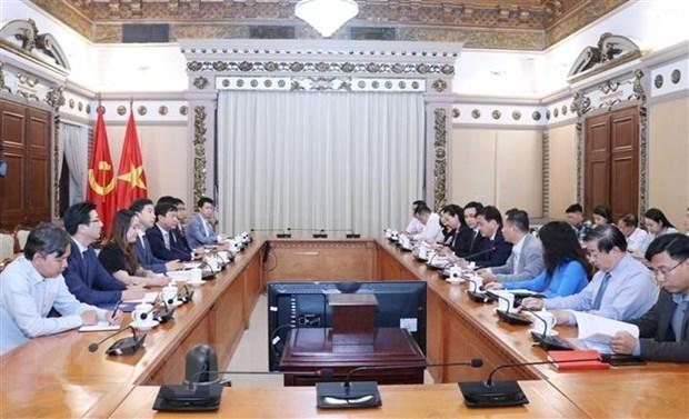 Ciudad Ho Chi Minh y empresa surcoreana cooperan en construccion de urbe inteligente hinh anh 1