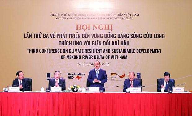 Premier Vietnam presenta nuevo enfoque estrategico para el desarrollo del Delta del rio Mekong hinh anh 1