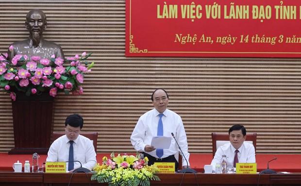 Exigen a provincia de Nghe An impulsar avance economico hinh anh 1