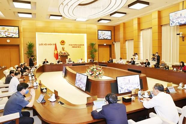 Inauguran reunion 54 del Comite Permanente del Parlamento vietnamita hinh anh 1