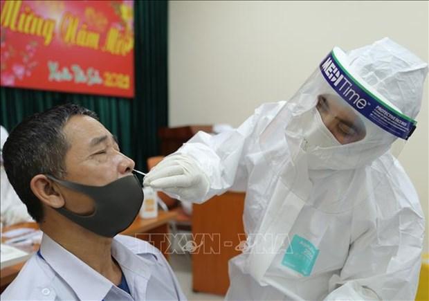 COVID-19: Dos nuevos contagios en Vietnam hinh anh 1