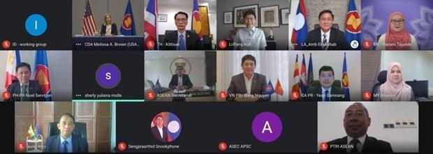 Sesiona reunion 12 del Comite Conjunto de Cooperacion ASEAN-EE. UU. hinh anh 1