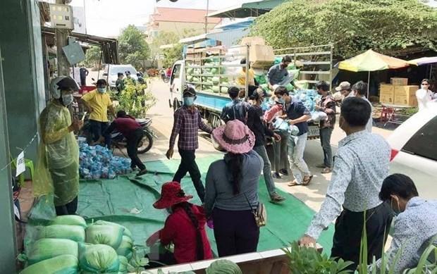 Apoyan a ciudadanos de origen vietnamita en cuarentena en Camboya hinh anh 1