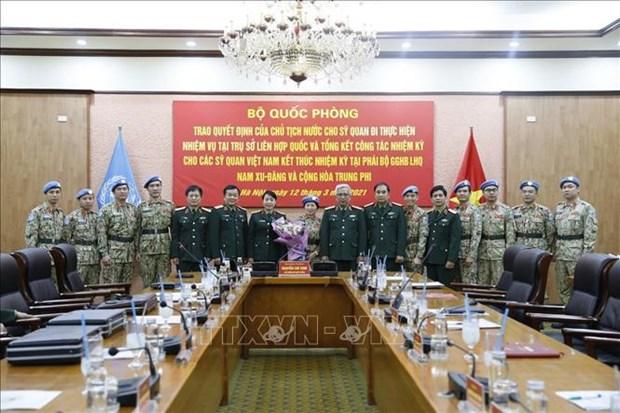 Vietnam por expandir su bandera en mapa mundial de mantenimiento de la paz hinh anh 1