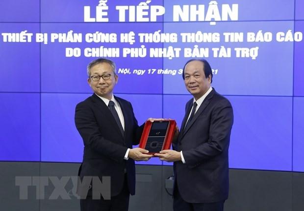 Vietnam recibe equipos para la plataforma de informes gubernamentales hinh anh 1