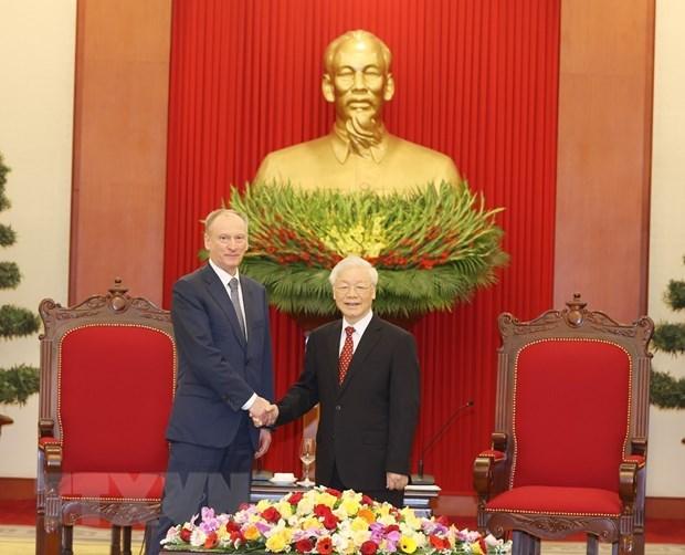 Maximo dirigente vietnamita pide fortalecer cooperacion en defensa con Rusia hinh anh 1