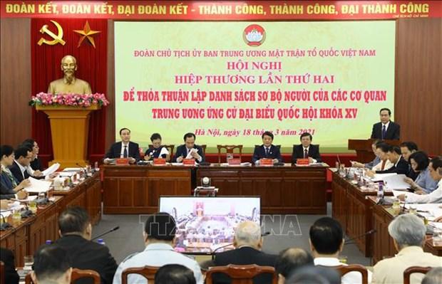 Celebran segunda conferencia consultiva en preparacion de las proximas elecciones en Vietnam hinh anh 1