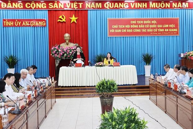 Revisan preparativos de provincia vietnamita de An Giang para elecciones parlamentarias hinh anh 1