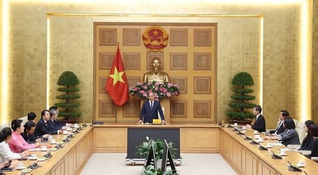 Primer ministro de Vietnam recibe a representantes de VASEAN hinh anh 1