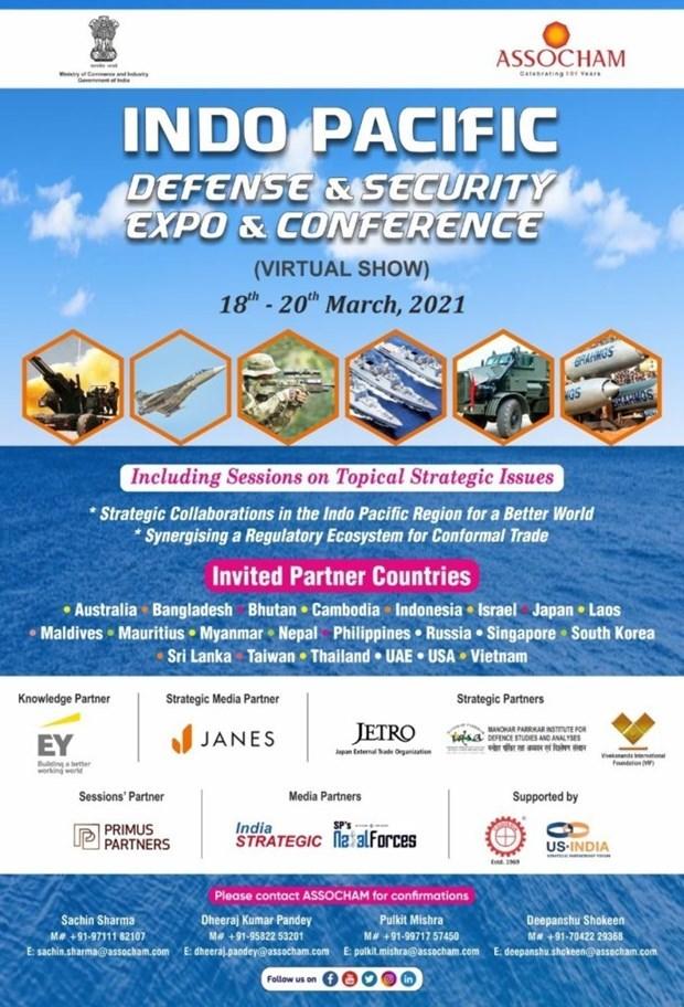 Vietnam participa en exposicion y conferencia sobre defensa y seguridad de Indo-Pacifico hinh anh 1