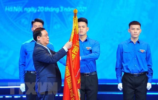 Celebran aniversario 90 de Union de Jovenes Comunistas Ho Chi Minh hinh anh 1