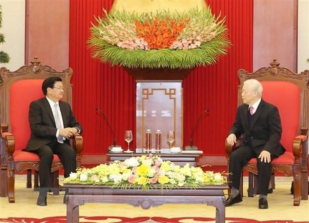 Fomentan lazos de solidaridad especial entre Vietnam y Laos hinh anh 1