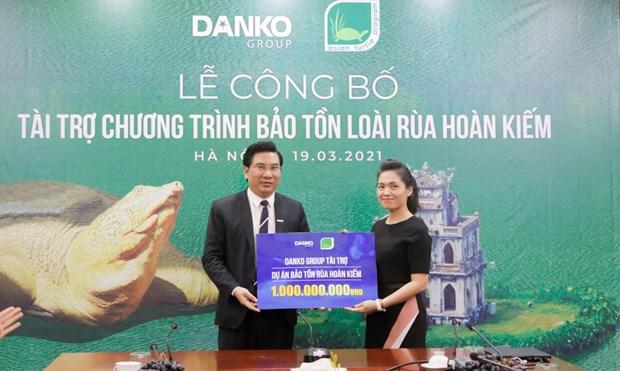Financia grupo vietnamita Danko Group conservacion de tortuga de Lago Hoan Kiem hinh anh 2