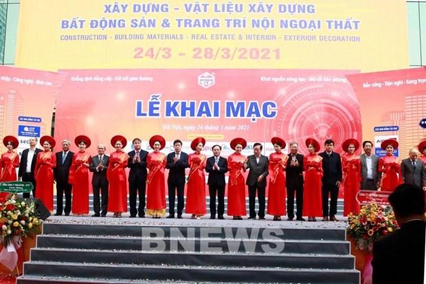 Exhiben productos destacados en Exposicion Internacional Vietbuild Hanoi 2021 hinh anh 1