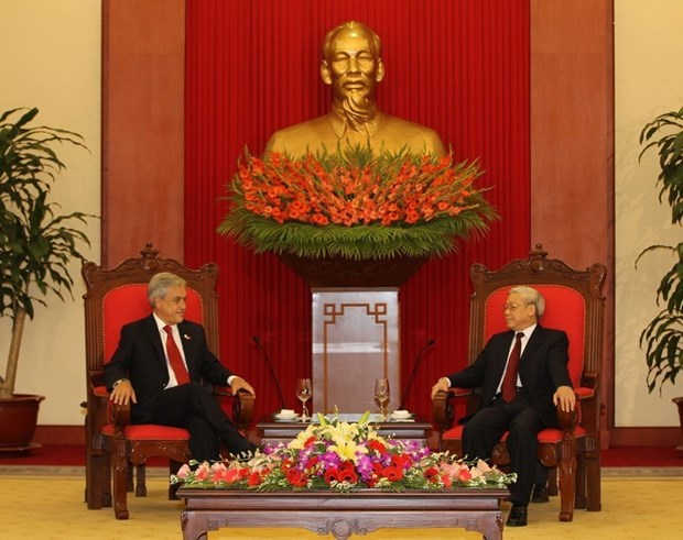 Vietnam y Chile intercambian mensajes de felicitacion en el 50 aniversario de relaciones diplomaticas hinh anh 1