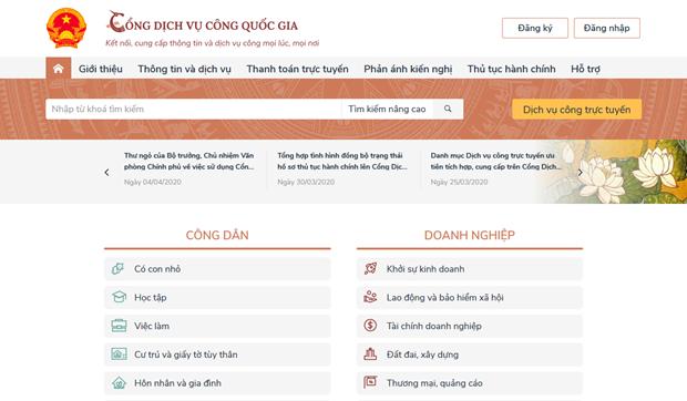 Amplian beneficios del Portal Nacional de Servicios Publicos de Vietnam hinh anh 1
