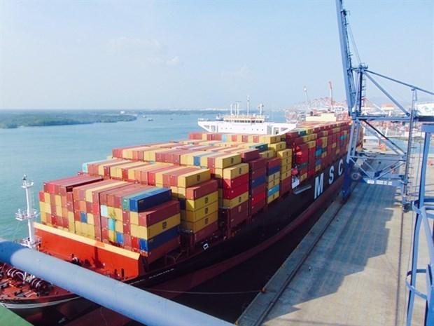 Puerto de provincia vietnamita recibe al mayor buque portacontenedores hinh anh 1