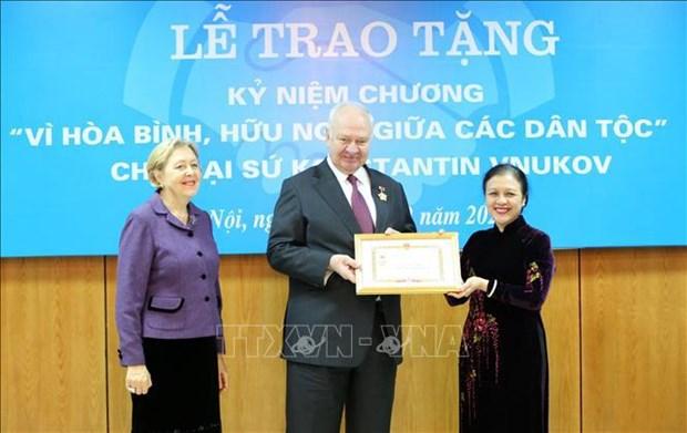 Union de Organizaciones de Amistad de Vietnam, nucleo de la diplomacia popular hinh anh 1