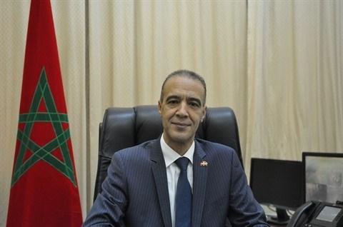 Embajador marroqui destaca la solida amistad y cooperacion con Vietnam hinh anh 1