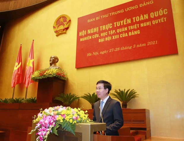 Celebran teleconferencia nacional sobre Resolucion del XIII Congreso del Partido Comunista de Vietnam hinh anh 1