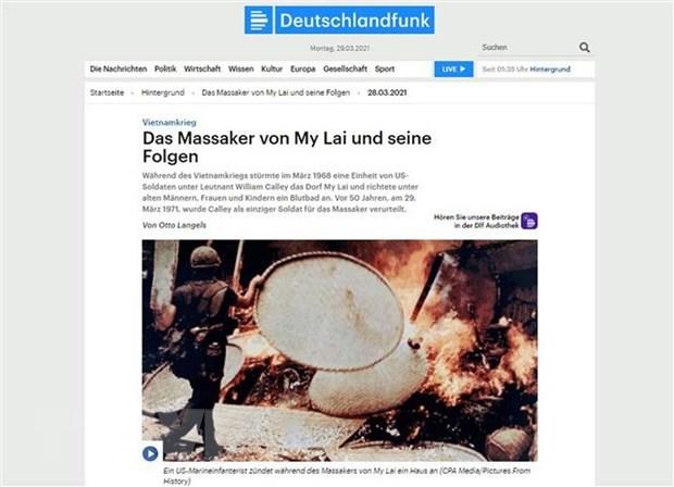 Masacre de My Lai, un terrible crimen de guerra, segun historiador aleman hinh anh 1