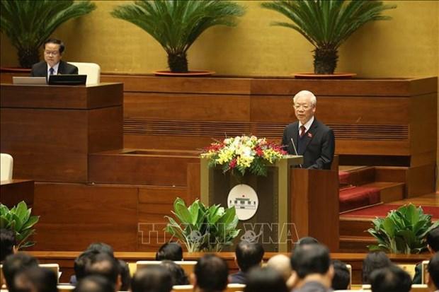 Analiza Parlamento vietnamita informe de trabajo del presidente y el Gobierno hinh anh 1