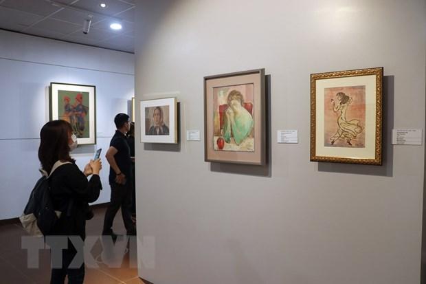 Exhiben en ciudad vietnamita de Da Nang pinturas devueltas desde Japon hinh anh 1