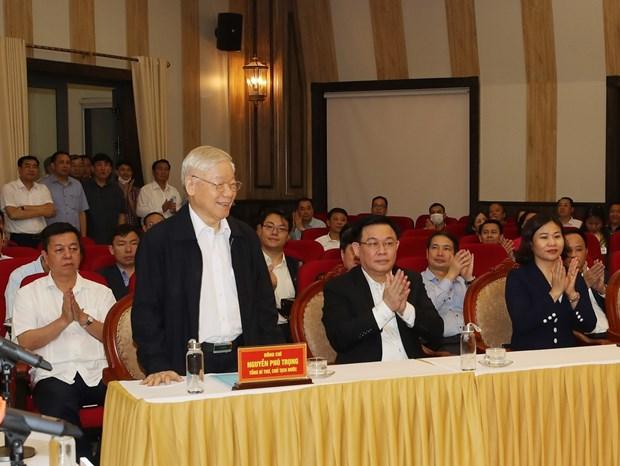 Resalta apoyo unanime del pueblo a maximo dirigente vietnamita hinh anh 1