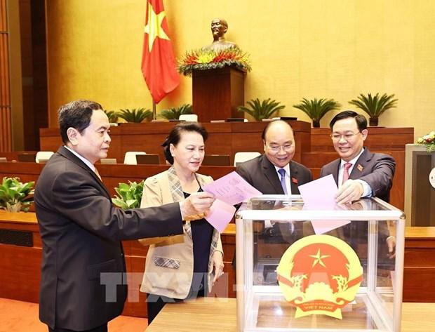 Parlamento de Vietnam elegira a sus vicepresidentes hinh anh 1