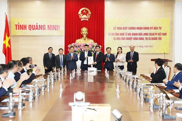 Provincia vietnamita de Quang Ninh concede licencia de inversion para proyecto de alta tecnologia hinh anh 1