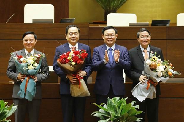 Elige Parlamento de Vietnam a sus vicepresidentes hinh anh 1