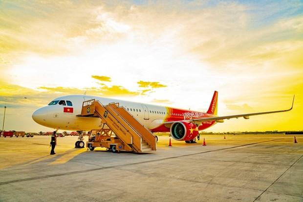 Vietjet Air reanuda varios vuelos internacionales hinh anh 1