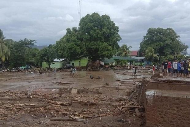 Inundaciones en Indonesia cobran la vida de 23 personas hinh anh 1