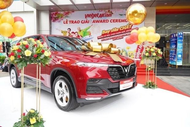Vietjet Air regala un automovil de 65 mil dolares a su pasajero mas afortunado hinh anh 1