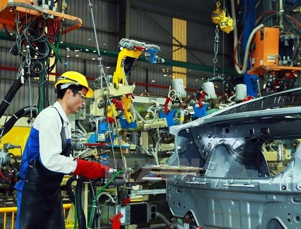 Industria de procesamiento y manufactura de Vietnam mantiene crecimiento en el primer trimestre hinh anh 1