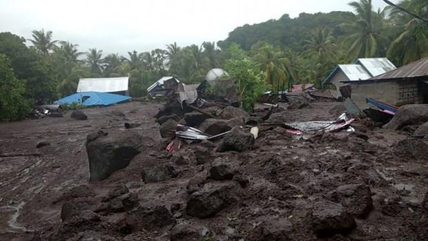 Aumenta muertes por inundaciones y deslaves en Indonesia hinh anh 1