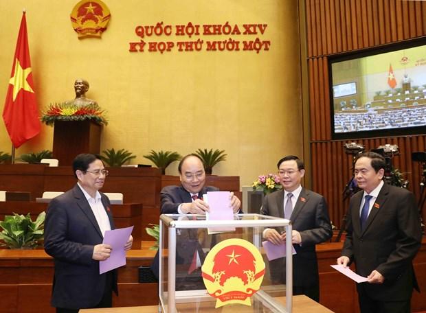 Parlamento de Vietnam procede al relevo de subjefa del Estado hinh anh 1
