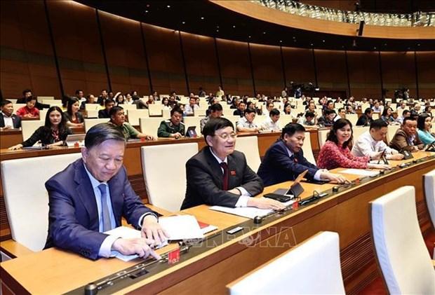 Proceden a elegir a vicepresidente de Vietnam y miembros del Comite Permanente de la Asamblea Nacional hinh anh 1