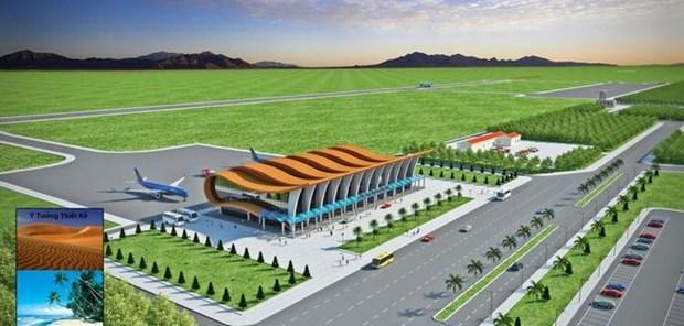 Comienzan construccion de aeropuerto en provincia vietnamita de Binh Thuan hinh anh 1