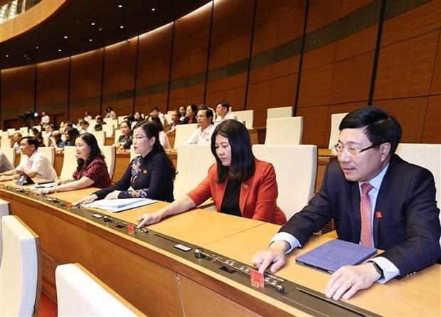 Primer ministro presenta lista de nombramiento de vicepremieres y ministros de Vietnam hinh anh 1