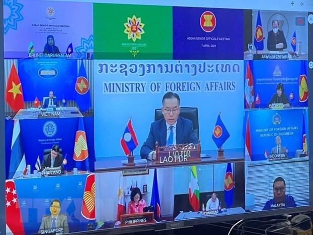 Vietnam presenta propuestas en Reunion de Altos Funcionarios de la ASEAN hinh anh 1