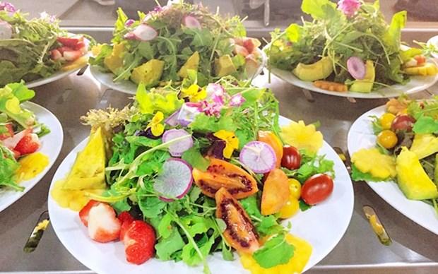 Visite la ciudad vietnamita de Da Lat en abril para disfrutar platos de flores hinh anh 1
