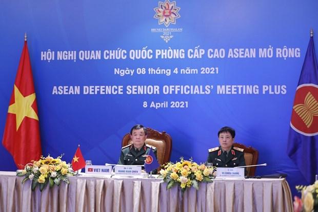 Efectuan reunion virtual de Altos Funcionarios de Defensa de la ASEAN hinh anh 1